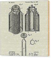 Voltaic Battery 1887 Patent Art Wood Print