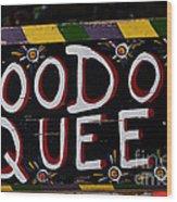 Voodoo Queen Wood Print