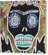 Voodoo Queen Sugar Skull Angel Wood Print