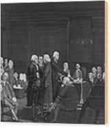 Voting Independence, 1776 Wood Print