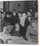 Voting Poll, 1922 Wood Print