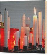 Votive Candles Wood Print by Gaspar Avila