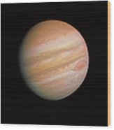 Voyager 1 Photo Of Jupiter Wood Print