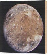 Voyager I Photo Of Ganymede, Jupiter's Third Moon Wood Print