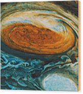 Voyagers View Of The Great Red Spot, An Wood Print