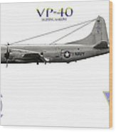 Vp-40 Fighting Marlins Wood Print