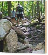 Vt Hiking Wood Print