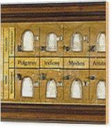 Vucetichs Dactilonomo, Fingerprint Wood Print