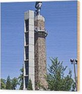 Vulcan Park Statue In Birmingham Wood Print