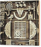 Vulcan Steel Steampunk Wood Print