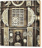 Vulcan Steel  Steampunk Metalworks Wood Print