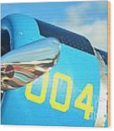 Vultee Bt-13 Valiant Nose Wood Print