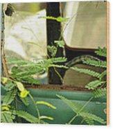 Vw Bug Going Green Wood Print