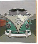 Vw Bus Art Wood Print