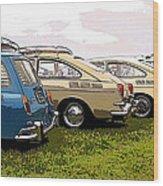 Vw Row Wood Print
