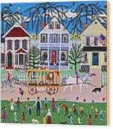 Wacky Jack's Travelling Circus Parade Wood Print