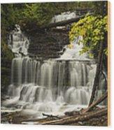 Wagner Falls 3 Wood Print