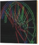 Wagon Wheels In Wheels Wood Print