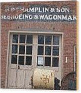 Wagonmaking Wood Print