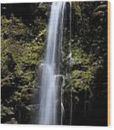 Waikani Waterfall Wood Print