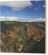 Waimea Canyon Landscape Wood Print