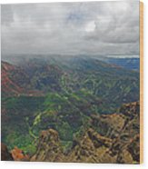 Waimea Canyon Weather Wood Print
