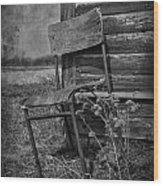 Waiting For Rain Wood Print