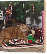 Waiting For Santa Wood Print