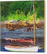 Waiting To Sail Wood Print