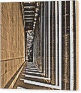 Walhalla Colonnade ... Wood Print by Juergen Weiss