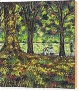 Walk In The Park Wood Print