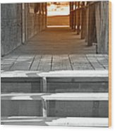 Walk Into The Past Wood Print