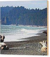 Walk On La Push Beach Wood Print