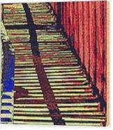 Walk This Way Wood Print