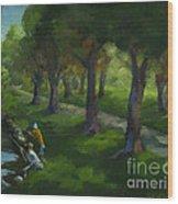 Walking Again In Cedar Park Wood Print