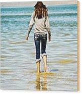 Walking Away 1 Wood Print