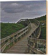 Walkway On Phillip Island Wood Print