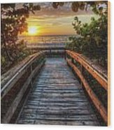 walkway to Paradise Wood Print