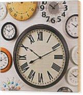 Wall Clocks Wood Print