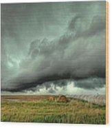 Wall Cloud Wood Print by Thomas Zimmerman