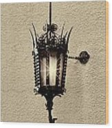 Wall Lamp Sepia Wood Print