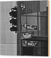 Wall Street And Broadway Wood Print