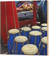Walrus Drums Wood Print