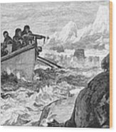 Walrus Hunt, 1875 Wood Print