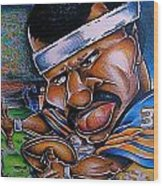 Walter Payton Wood Print by Big Mike Roate