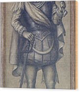 Walter Raleigh, English Explorer Wood Print by Photo Researchers