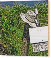 Walt's Hat Wood Print