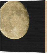 Waning Moon Wood Print