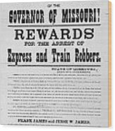 Wanted Poster, 1881 Wood Print