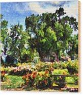 War Memorial Rose Garden  4 Wood Print